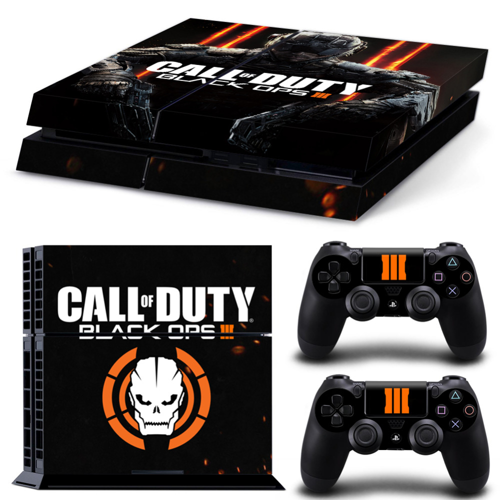 Custom PVC For Call Of Duty Black Ops 3 Decals Stickers For PS4 Console For Playstation 4 PS 4 Controller LED Lightbar Skin(China (Mainland))