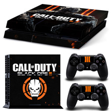 Custom PVC For Call Of Duty Black Ops 3 Decals Stickers For PS4 Console For Playstation 4 PS 4 Controller LED Lightbar Skin