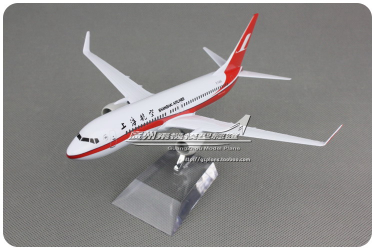 20cm Metal Plane Model Air China Shanghai Airlines B737 800 B-5460 Airplane Model Boeing 737 Airways w Stand Aircraft Toy Gift(China (Mainland))