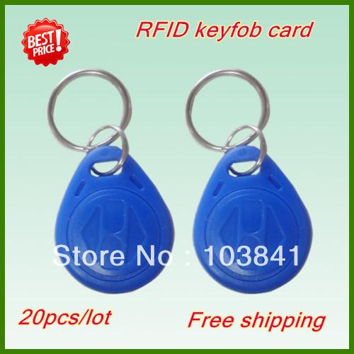 Retail keyfob 20Pcs/Lot 125Khz RFID Proximity ID Card Token Tags Key Keyfobs for Access Control Time Attendance Free Shipping(China (Mainland))