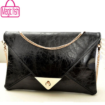 Magic fish! 2014 new Hot Promotion! women clutch messenger bags shoulder pouch women pu leather handbags wallet LS1305