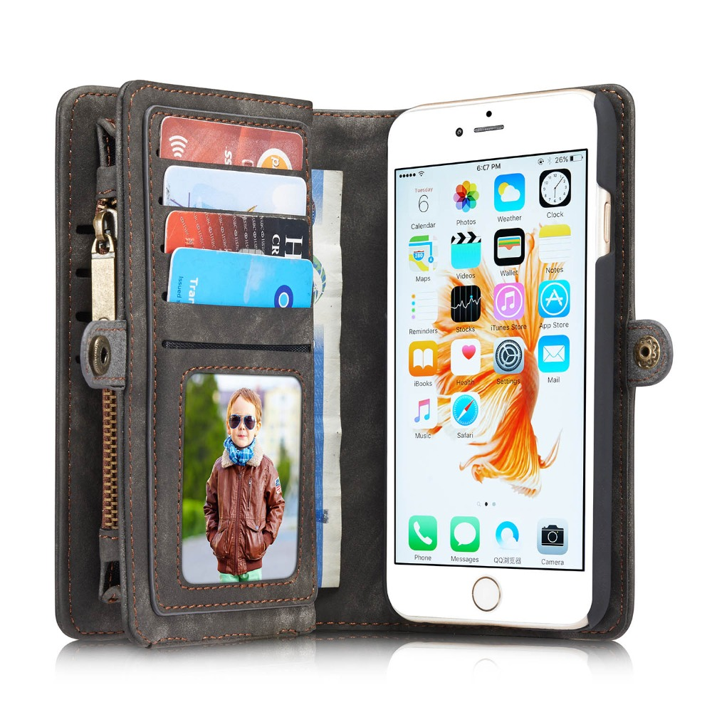 PRO 6 Plus Luxury Genuine Leather Case for Apple iPhone 6 Plus Case Wallet Flip Phone Bag Cases Leather Coque for iPhone 6 Plus(China (Mainland))