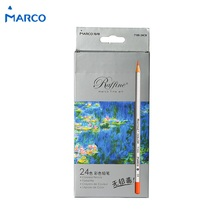 Buy 24 colored pencils Marco wood color pencil drawing Stationery Art supplies Fine crayons painting School lapis escolar F915 for $10.40 in AliExpress store