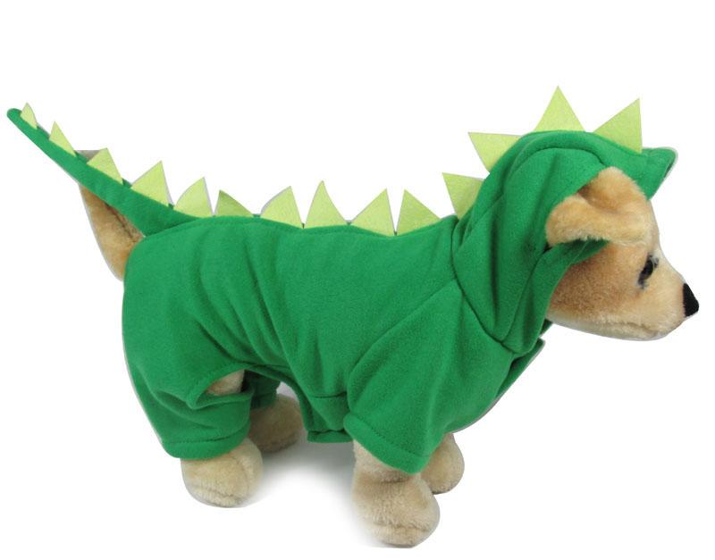 New Fashion Pet Apparel Cheap Pet Cloth For Dog Cat Dinosaur Dinosaur Pattern Pet Winter Clothing Green Pet Coat(China (Mainland))