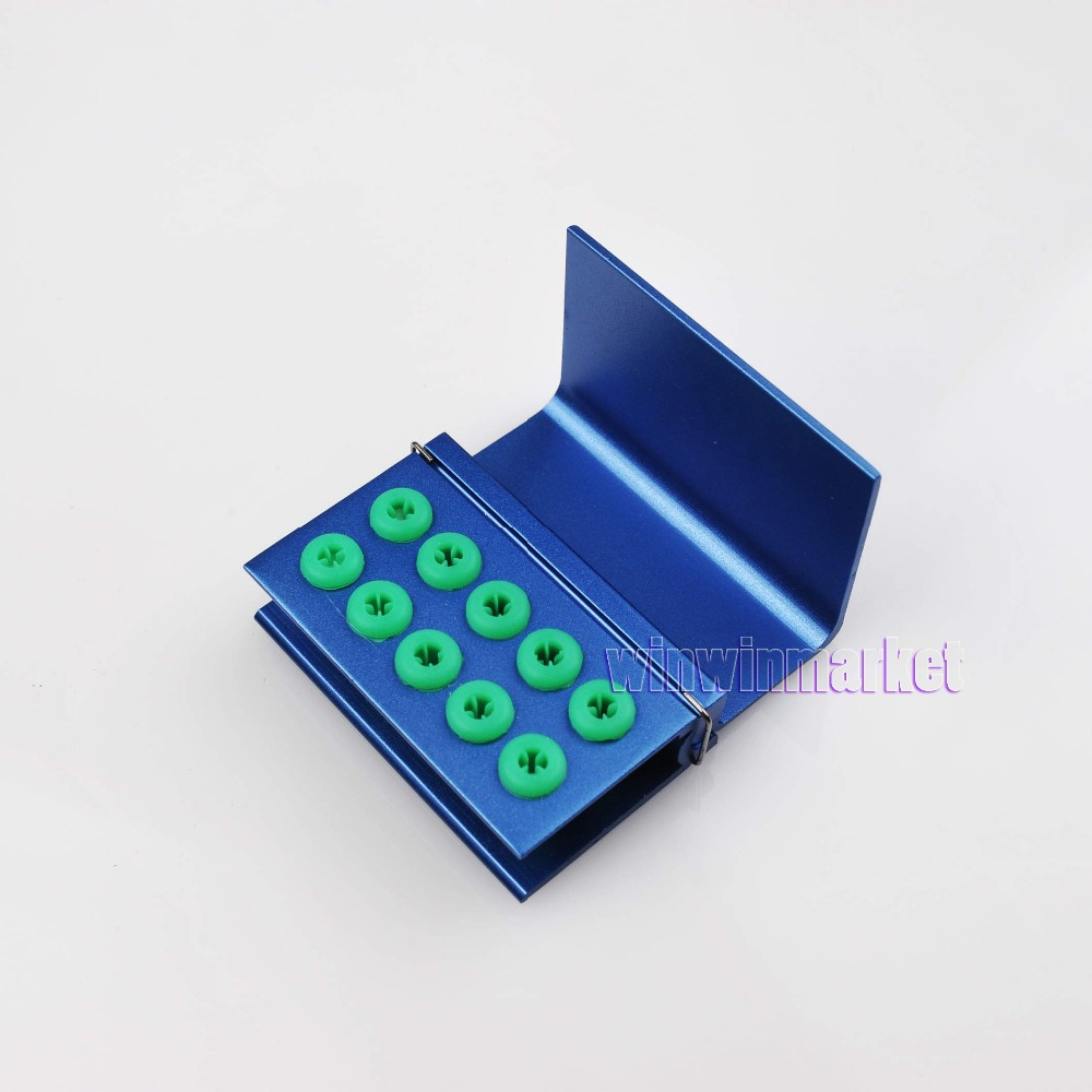 New Blue 1Pc FG RA Bur Tips Disinfection Holder Block Sterilizer Covers 10 Holes(China (Mainland))