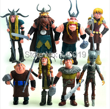 How to Train Your Dragon 2 figurines toy 8 pcs/set 10-14 CM PVC Action Figures Collectible Toys for boy gift(China (Mainland))