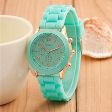 Women watches 2015 Fashion Geneva Watch Colorful Silicone Watch Analog Women Casual Quartz Watch Luxury Wristwatch Relogio