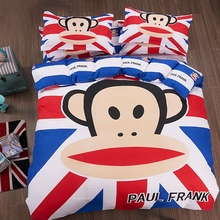 100% Cotton Bedding Set Cartoon Printing Bedclothes Baby Children Kids Bed Linen King Queen Twin Full Duvet Cover Set 4PCS(China (Mainland))