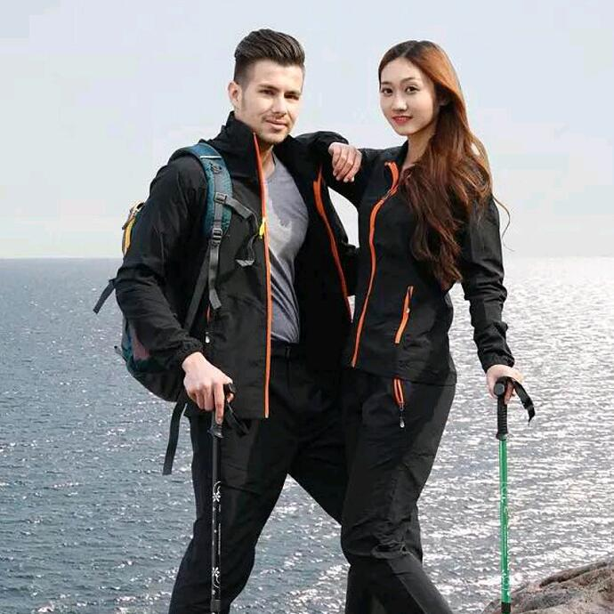 Spring and summer Lovers Quick dry suit Camping Hiking jacket and pants men womens Sun-Protective windbreaker Fishing clothing<br><br>Aliexpress