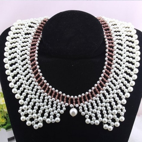 Min.order is $10 (mix order) 42A52 handwork  pear collar necklace BiB necklace Choker necklace  free shipping ------Swantones