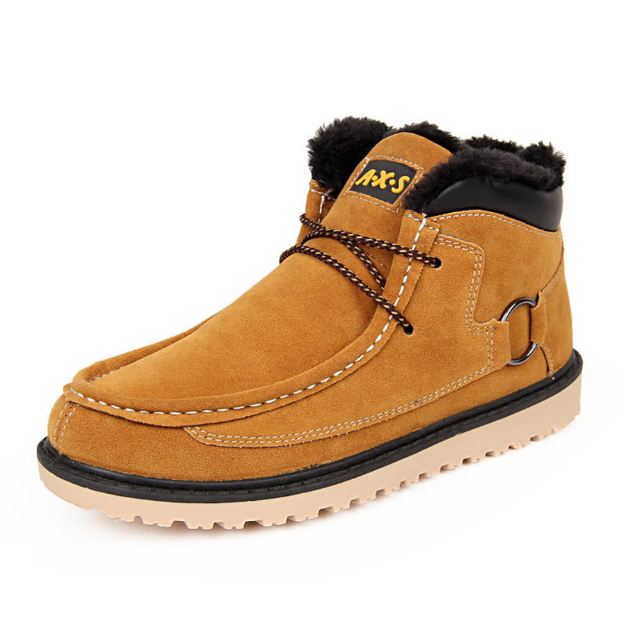 2016 Hot Sale Men Snow Boots High Grade PU Leather Winter Men Fluffy Shoes Suede Casual Men's Shoes Fashion Zapatos Hombre XZ23(China (Mainland))