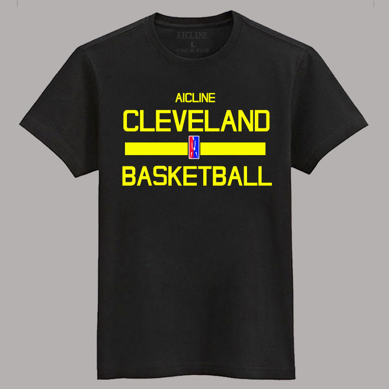 2016 training wear t shirt basketball short sleeve for Cleveland t shirt printing