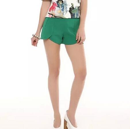 DK280 Новая мода женская Элегантный основной лепесток шифон шорты молния карманы ...