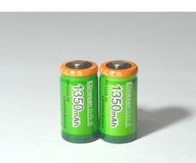 2pcs/lot Etinesan 1350mah Cr123a 3V LiFePO4 lithium rechargeable battery cr123a 3.0v 16340 camera flashlight battery(China (Mainland))