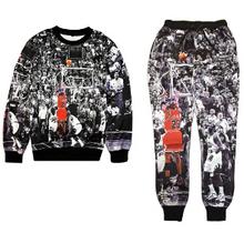 2015 New Jordan Lore NO.23 3D printed sport tracksuit men/women joggers+hoodies 2 pcs set outfit clothes plus size S-XXL(China (Mainland))