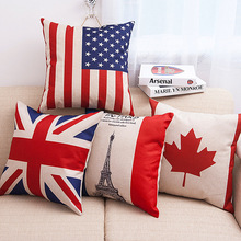 Flag Cotton Linen Body Pillow Hugging Pillow Cases Soft Cozy Pillowcase