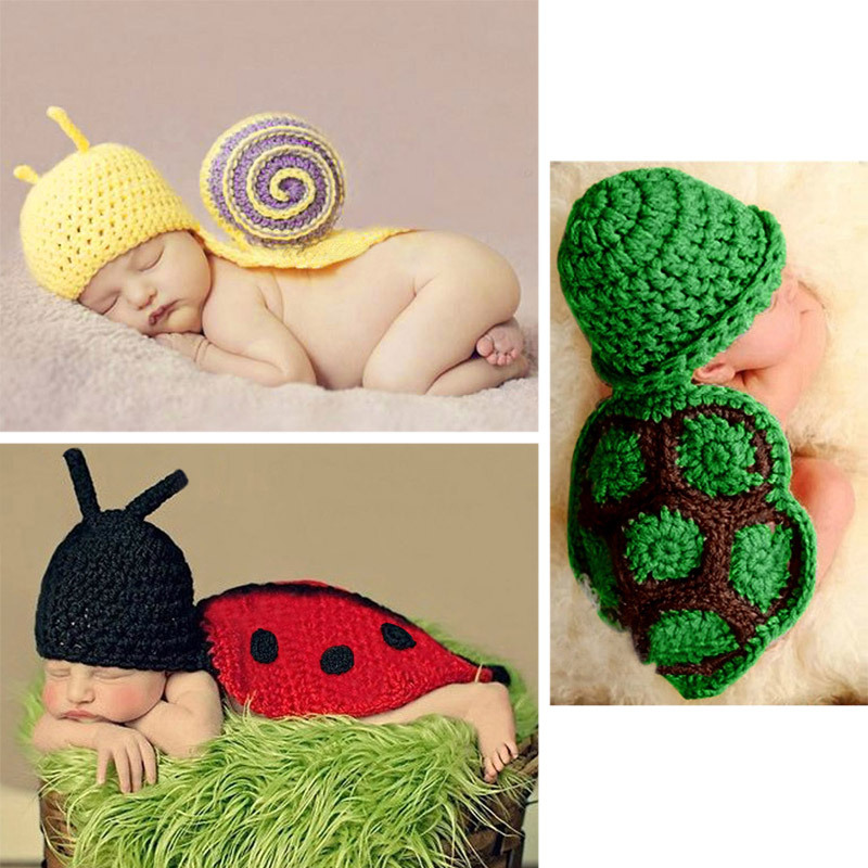 Baby Infant Aminal Knit Crochet Costume Photography Tool Beanie Hat Cap M1510(China (Mainland))