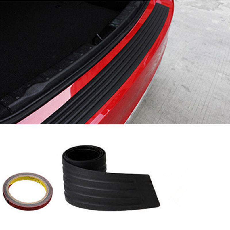 New Black Rubber Rear Guard Bumper Protector Trim Cover For ford focus 2 bmw e46 volkswagen toyota chevrolet cruze renault opel(China (Mainland))