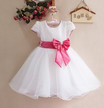 Children Girl Dress  Infant Dress With Bow Girl Formal Party Dress kids Clothing (China (Mainland))