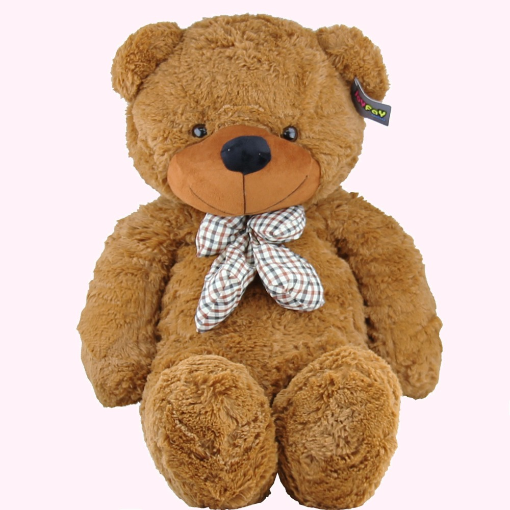 "Joyfay 39"" 100cm Brown Giant Teddy Bear Giant 1m Huge Stuffed Plush Toy Big Soft Bear Best Gift for Birthday Valentine's Day(China (Mainland))"