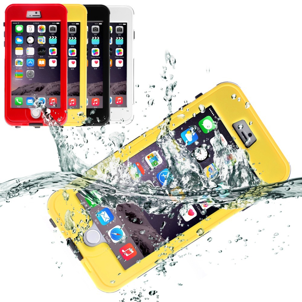 New Arrival Waterproof Phone Cases for iPhone 6 Plus 5.5 inch Anti-Dirt/ Snow Proof /Touched Case for iphone 6 Plus Multi-Color(China (Mainland))