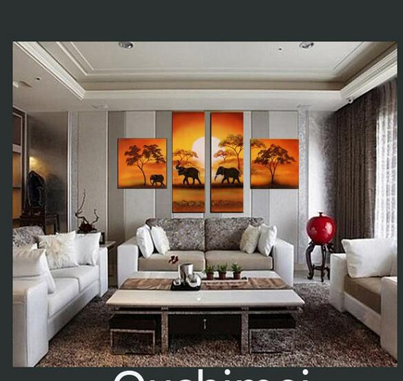 Home Decor Wall Groupings : Hand painted oil painting landscape on canvas home decor