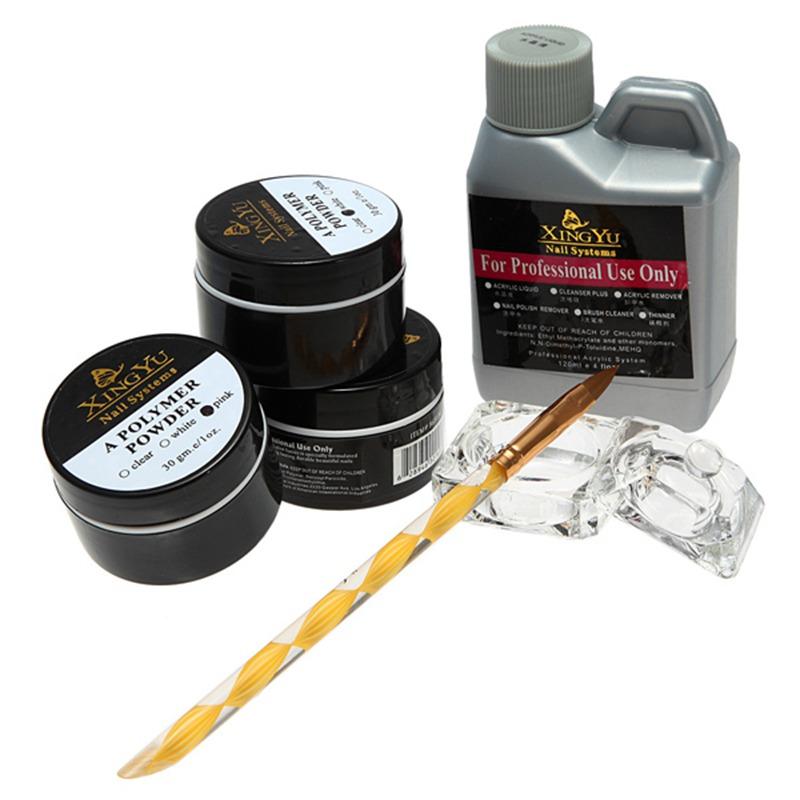 Professional 120ml Nail Acrylic Powder Liquid Pen Dish Set Art Nails Tips DIY Design Kit Beauty Tools Free Shipping(China (Mainland))