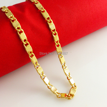 Africa really gold necklace men 24k gold tile chain necklace high simulation of thousands of gold wedding jewelry free shipping(China (Mainland))