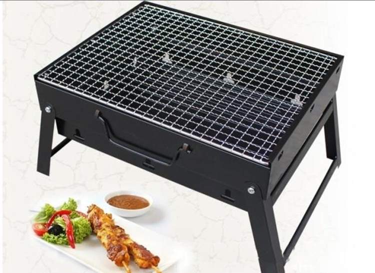 Outdoor Camping Supplies Outdoor Barbecue Appliances Folding Portable Charcoal Grills Home garden BBQ Oven with BBQ net(China (Mainland))