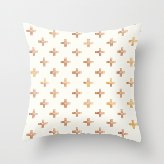 Rose Gold Plus Pattern Decorative Sofa Cushion Pillows Throw Pillow Case Covers-in Cushion Cover ...
