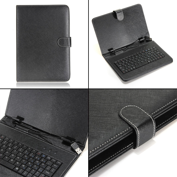 New USB Keyboard PU Leather Stand Case Cover For 8/9/9.7/10/10.1 Android Tablet PC(China (Mainland))