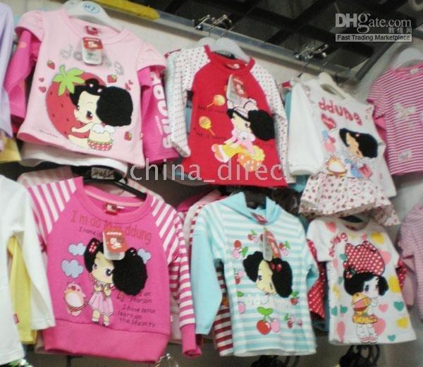 top 12pcs/lot new Long sleeve Girls t-shirt girl Tops shirts,t-shirts<br><br>Aliexpress
