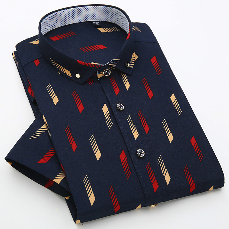 20 Colors Fashion Unique Print Men Dress Shirt Short Sleeve Casual Design Social Muscle Fitted Manly Summer Plus Clothes S-4XL(China (Mainland))