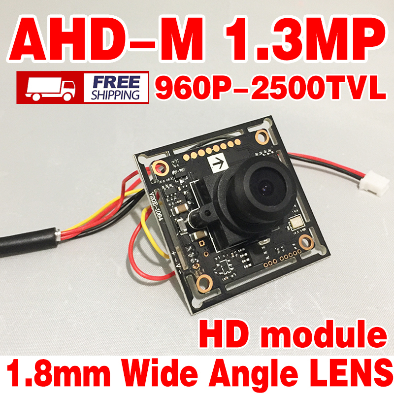 2500tvl 1/4CMOS adhm V20E+GC1064 960p Finished Monitor module optional 1.8mp Hd Wide Angle lens mini Color image home chip Video(China (Mainland))
