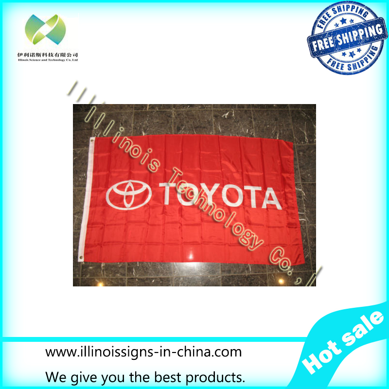3x5 Toyota Advertising Marketing Super Poly 3'x5' Flag Banner Brass Grommets(China (Mainland))