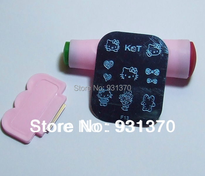 HOT SALES 180styles 50PCS /lot Nail art stamping image plate+2pcs 2 ways stamp+2pcs scrap(China (Mainland))