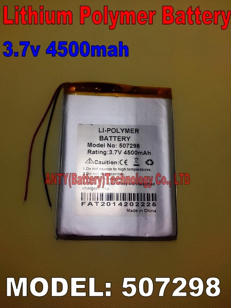 Fedex Free Ship 20pcs/Lot Li-ion Rechargeable Battery 4500mah 3.7v Lithium Polymer Battery for Tablet PC Lithium ion Battery(China (Mainland))