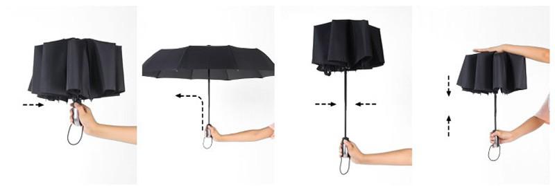 Business Luxury Men Umbrella 3 Folding Full Automatic Umbrella Super Windproof 10 Rib Fashion Blue Red Lady Umbrella Rain Women7