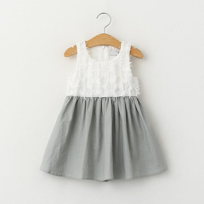 New Fashion Style 2016 Girls Dress patchwork sleeveless girl princess dresses kids vestidos<br><br>Aliexpress