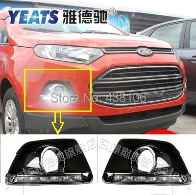 ! LED CAR light DRL Daytime Running Lights Ford Ecosport 2013-2014 fog lamp hole - Alexander Electronic Co., Ltd. store