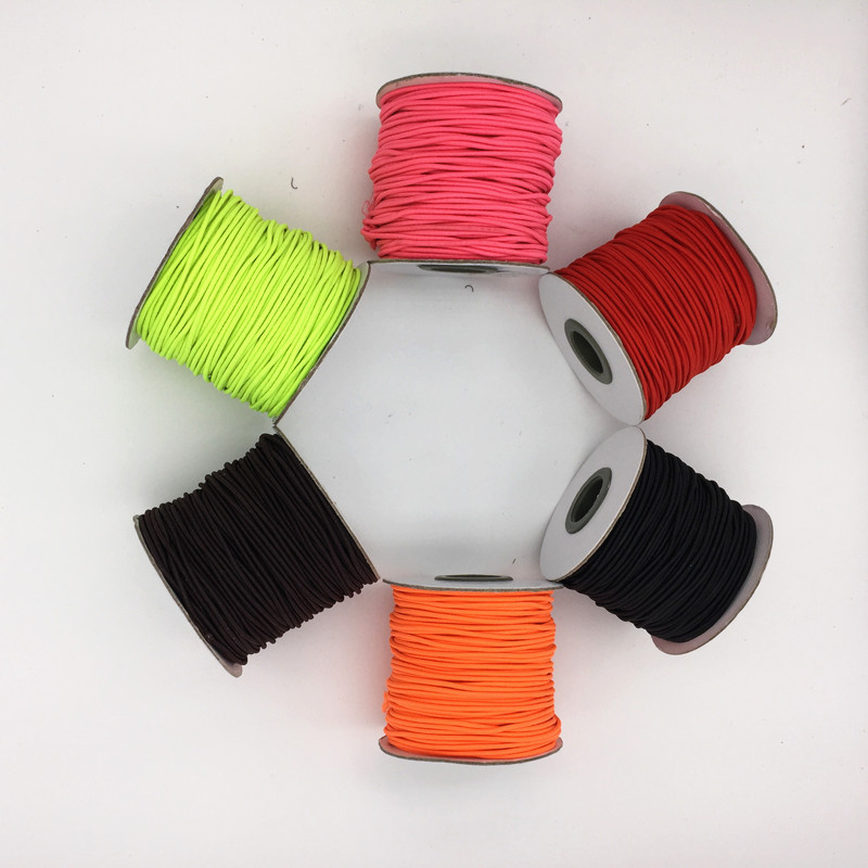 45Yards/roll Round Elastic Cord 1.5mm Beading Stretch Thread String Rope For DIY Jewelry Bracelet Making Supplies 6 Colors(China (Mainland))