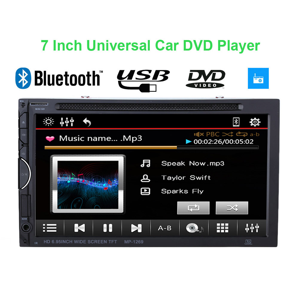 Best 7 Inch 2 Din Car DVD Player UI Bluetooth Multimedia Car Audio Entertainment for VW BMW Frod Toyota(China (Mainland))