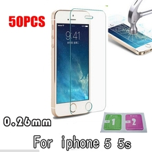 50PCS Premium For iphone 5 5s se 6s 6plus Tempered Glass For iphone 5s Screen Protector Protective Film De Vidro
