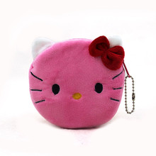 Hot Sale New Cartoon Animal Plush Coin Purses Girls Cute Cat Dog Rabbit Mini Wallets Kids Change Bags Small Handbag Gift 10*10cm(China (Mainland))