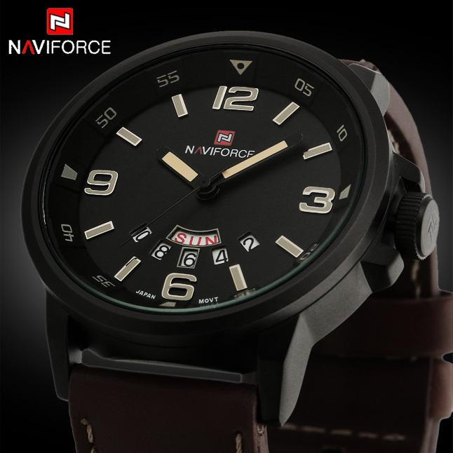2015 New Luxury fashion Business Quartz watch Men sport Watches Military Watches Men Corium Leather Strap army wristwatch(China (Mainland))