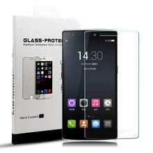 Yipin oneplus one templado superior de cristal protector de pantalla para uno más uno 9 h 2.5d 0.33mm película protectora contra huellas digitales