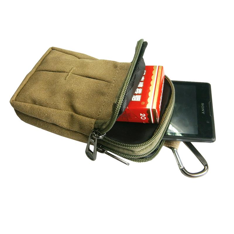 Canvas Waist Bag High quality Packs Mens Travel Bags Belt Bag Waist Pack Belt Loops Phone Pouch Hip Purses Wallet(China (Mainland))
