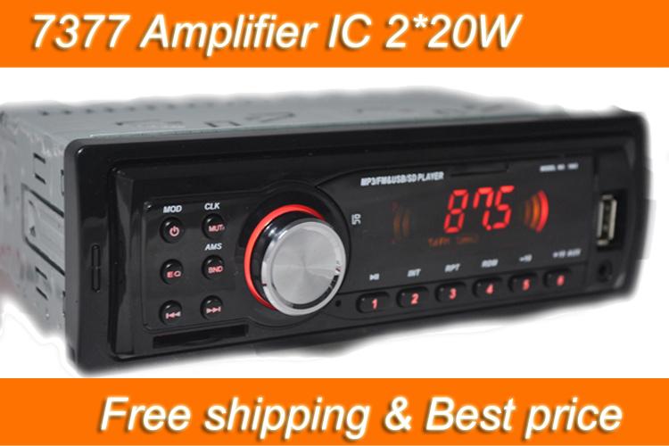 Car Radio Player MP3 FM/USB/1 Din/USB port 12V Car Audio Auto Stereo Car MP3 Free shipping 2*20W Hot sale EQ Effect Best price(China (Mainland))
