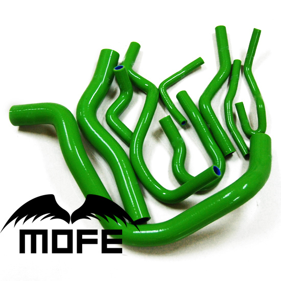 MOFE 3 Plys Original Logo Silicone Heater Radiator Hose for Honda Civic EK3 B16 B16A B16B Green Color(China (Mainland))