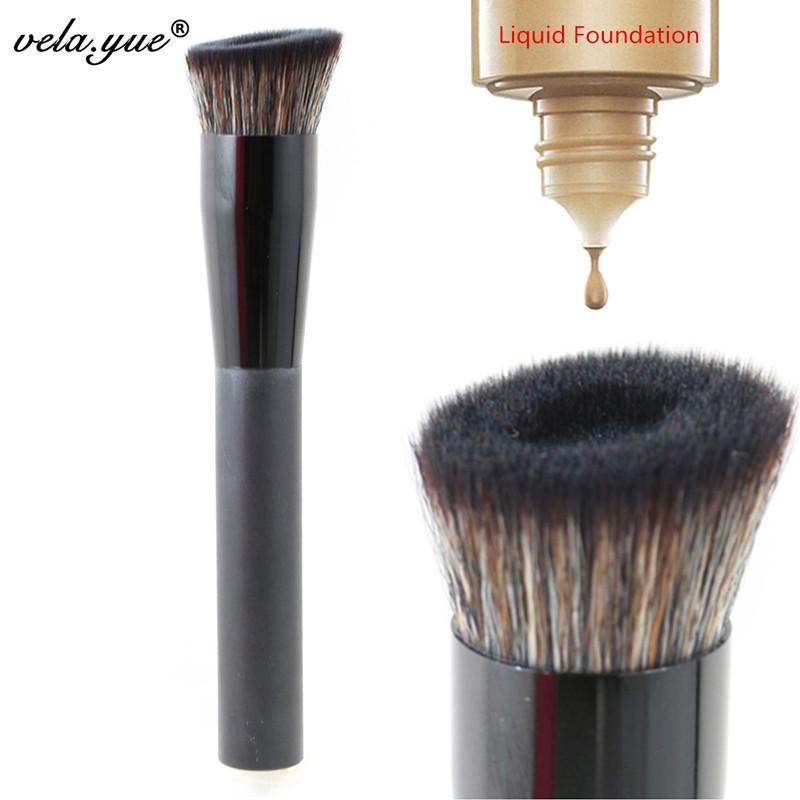vela yue Angled Perfecting Face Brush Premium Foundation Makeup Brush(Hong Kong)